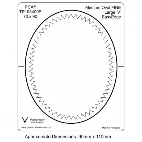 PCA Template FINE Ovale medium milieu extérieur Grand EasyEdge 'V' large