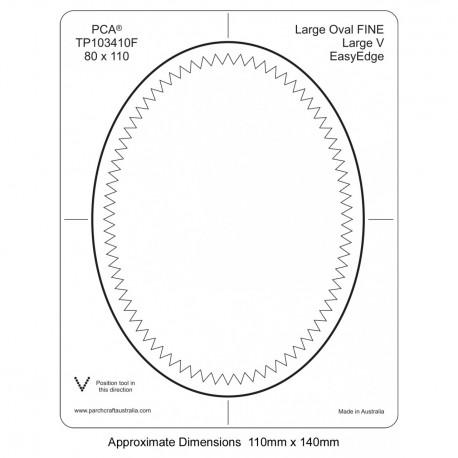 PCA Template FINE Ovale large milieu intérieur Grand EasyEdge 'V' large