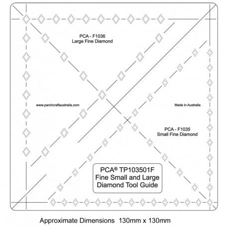 PCA Template FINE petit et large diamant
