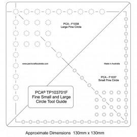 PCA Template petit et large cercle