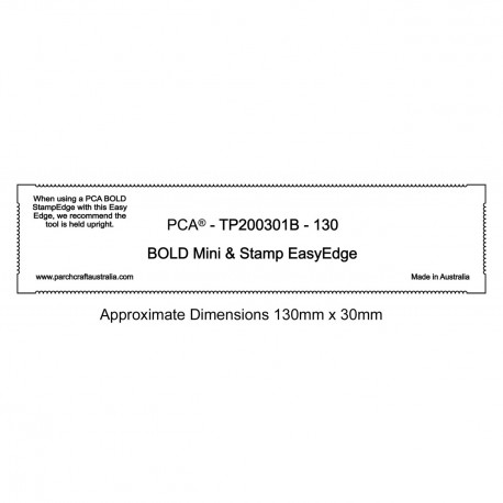 PCA Template BOLD 130mm MiniStamp EasyEdge