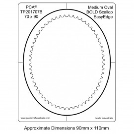 PCA Template BOLD ovale medium intérieur EasyEdge coquille épais