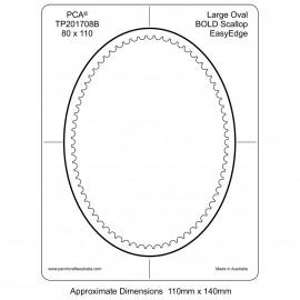 PCA Template BOLD ovale large intérieur EasyEdge coquille épais