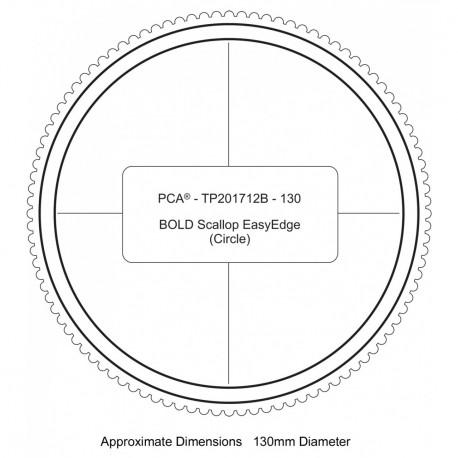 PCA Template BOLD 130mm cercle extérieur épais scallop EasyEdge coquille