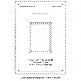 PCA Template BOLD rectangle medium intérieur épais Scallop EasyEdge Coquille