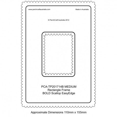 PCA Template BOLD rectangle medium intérieur épais Scallop EasyEdge Coquille