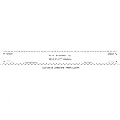 """PCA Template BOLD 260mm droit épais petit """"V"""" EasyEdge"""