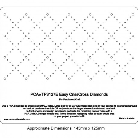 PCA Template GAUFRAGE Facile Diamants CrissCross