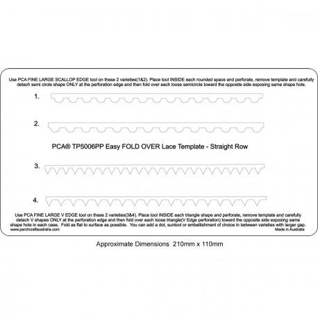 PCA Template Facile Modèle Dentelle Foldover - Ligne Droite