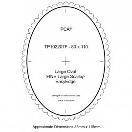 PCA Template FINE grand ovale extérieur EasyEdge pétoncles Grand