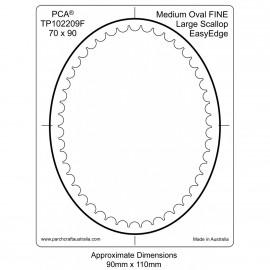 PCA Template FINE ovale moyen intérieur EasyEdge pétoncles Grand
