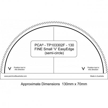 PCA Template 130mm FINE DemiCercle extérieur EasyEdge petits 'V'