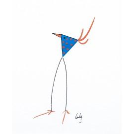 Cartes postales papillons oiseaux carterie d 39 art pour for Oiseau bleu et orange