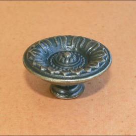 Cartonnage poignée bouton bronze antique 39mm x1