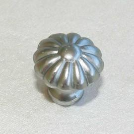 Cartonnage poignées boutons argent mat 22mm x2