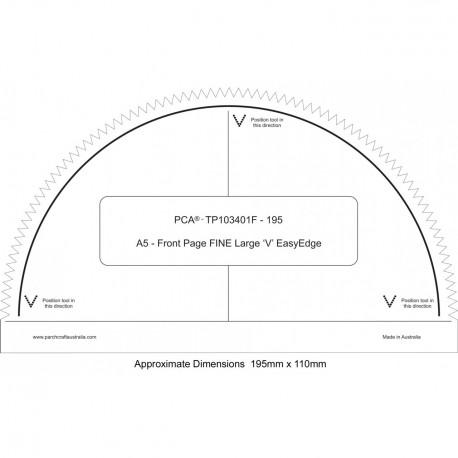 PCA Template FINE Front Page A4 extérieur des grands EasyEdge 'V'