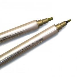 Feutre Zig calligraphie pointes biseautées or