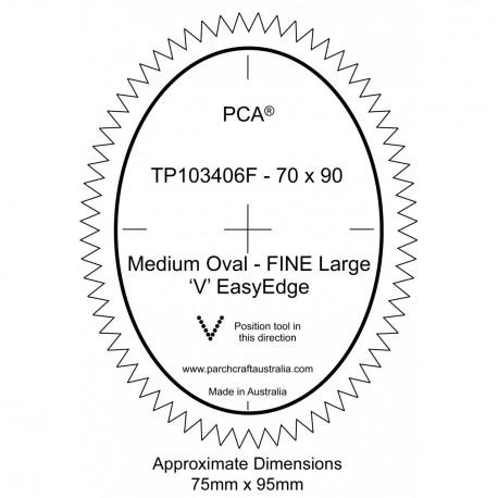PCA Template FINE Ovale milieu extérieur Grand EasyEdge 'V'