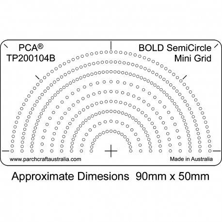 PCA Template BOLD DemiCercle Mini grille
