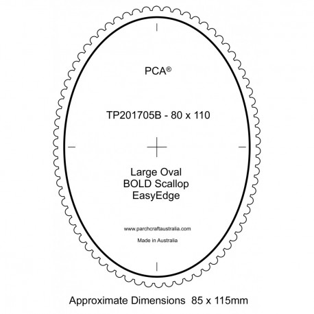 PCA Template BOLD grand ovale extérieur EasyEdge coquille Gras