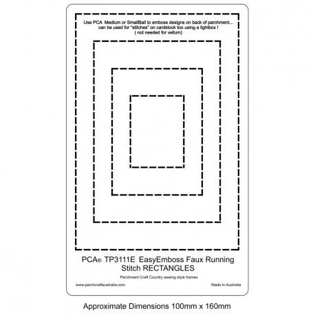 PCA Template GAUFRAGE Faux Facile Exécution rectangles de point