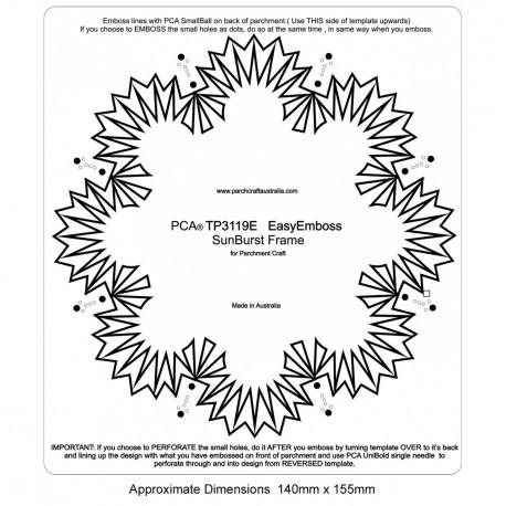 PCA Template GAUFRAGE Cadre Sunburst Facile