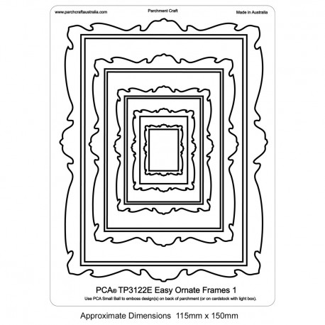 PCA Template GAUFRAGE Facile Cadres Ornate 1