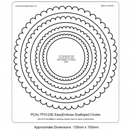 PCA Template GAUFRAGE Facile Cercles festonné