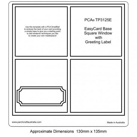 PCA Template GAUFRAGE base Easy Card.Fenêtre carrée avec Label