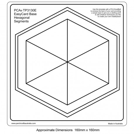 PCA Template GAUFRAGE base Easy Card. Segments hexagonaux