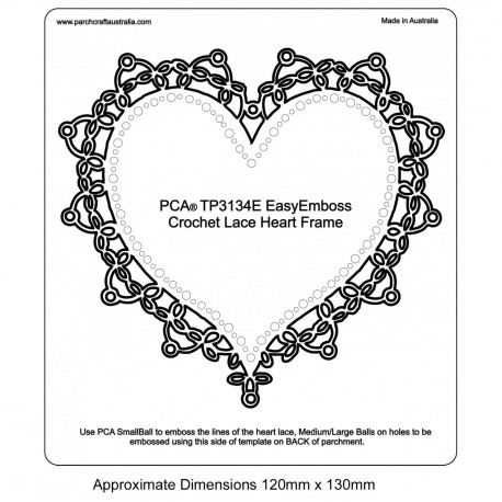 PCA Template GAUFRAGE Facile Heart Frame Lacy