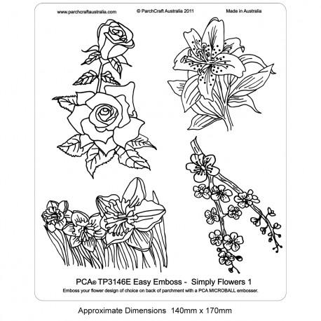 PCA Template GAUFRAGE Facile Fleurs simplement une