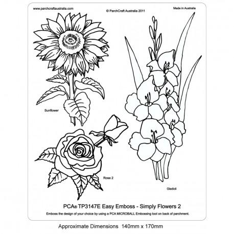 PCA Template GAUFRAGE facile de simplement Fleurs 2