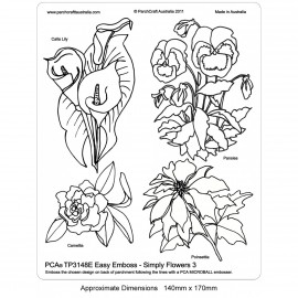 PCA Template GAUFRAGE Facile Fleurs simplement 3