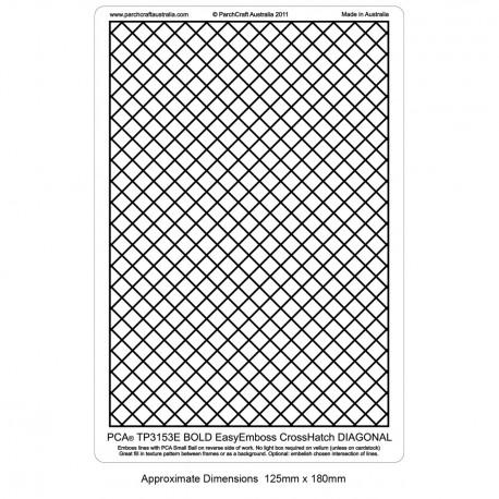 PCA Template GAUFRAGE Crosshatch Gras Diagonal (1/2 espace) utilise Bal Micr