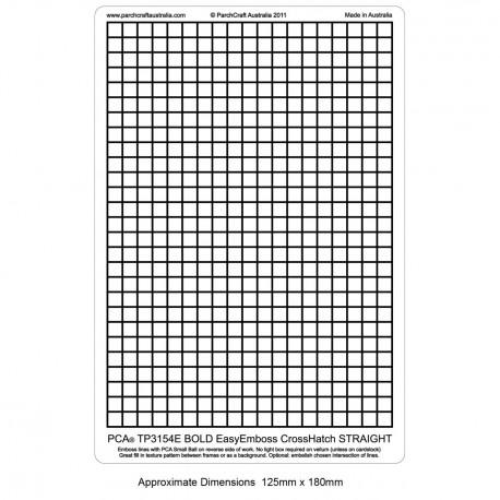 PCA Template GAUFRAGE Crosshatch Gras droite (1/2 espace) utilise Micro bill