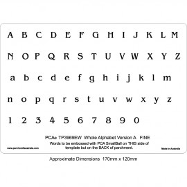 PCA Template GAUFRAGE version alphabet Beaux-1