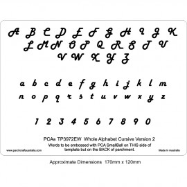 PCA Template GAUFRAGE version alphabet CURSIVE 2