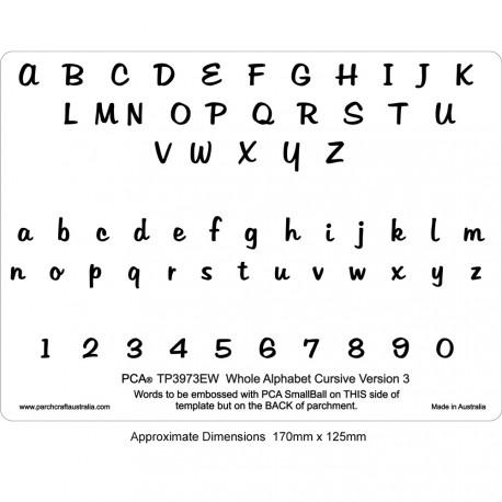 PCA Template GAUFRAGE version alphabet CURSIVE 3