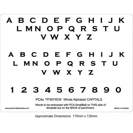 PCA Template GAUFRAGE CAPITALES alphabet