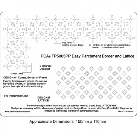 PCA Template Border Parchemin Easy & Lattice