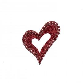 Bijou de peau Karnyx coeur moulin rouge n°2 tatou cherry et strass cherry