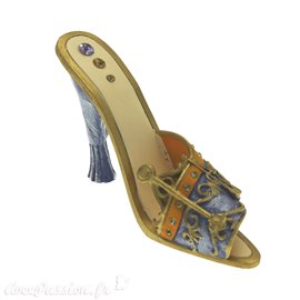 Chaussure miniature de collection horoscope balance