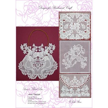 Pattern Parchment Julie Roces floral lace pattern 1
