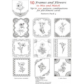 Pattern Parchment Julie Roces frames and flowers pattern 4