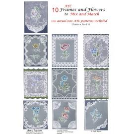 Pattern Parchment Julie Roces frames and flowers pattern 6