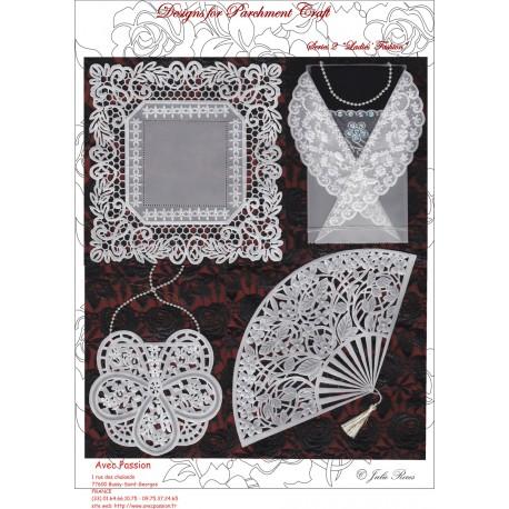 Pattern Parchment Julie Roces ladies fashion pattern 2