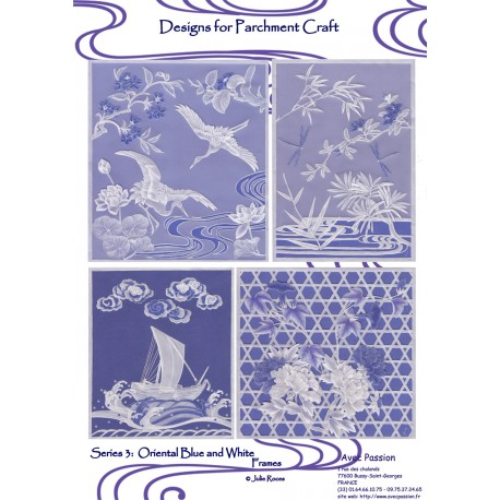 Pattern Parchment Julie Roces oriental blue and white pattern 3