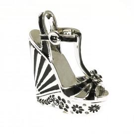Chaussure miniature collection escarpin noir argent 4