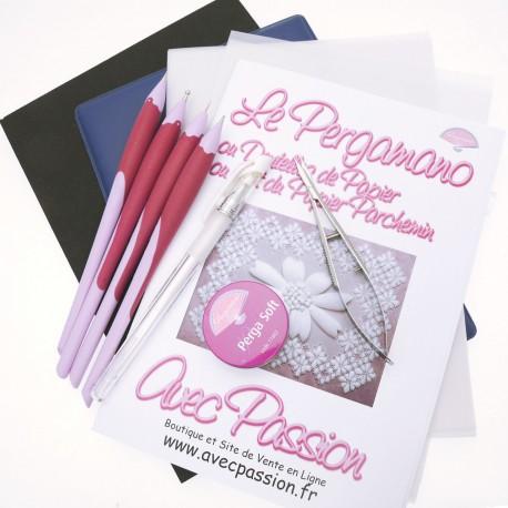 Pergamano kit débutant embossage 3 outils + ciselage dents pergacutter